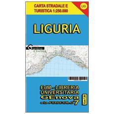 Carta stradale turistica della Liguria