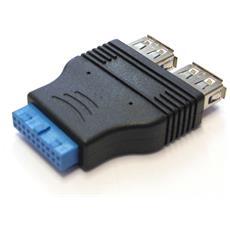 Adattatore Connettore Diretto Scheda Madre Usb 3.0 Da 20 P / usb 3.0 Af*2