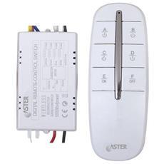 Interruttore Elettronico Radiocontrollato 4 Vie Carico Max 4 X 1000 Centralina Wireless