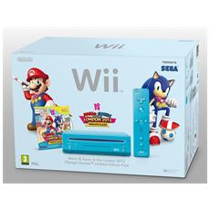 WII - Console Wii Mario & Sonic Londra Pack Azzurro Limited Edition