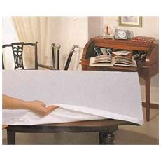 Mollettone Tavolo 6 Persone Cm 140x180 Con Elastico Copritavolo Made Italy Colore Bianco