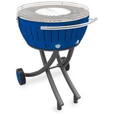 Barbecue Xxl Con Ruote - Blu