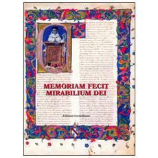 Memoriam fecit mitabilium dei. Scritti in onore di Emanuele Boaga