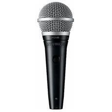 Pga48 Microfono Professionale Xlr-xlr Cavo 4,57 Mt Ideale Per Karaoke Black