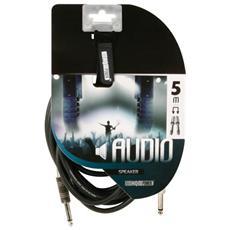 Cavo Audio Professionale 6.35mm / 6.35mm Maschio / Maschio da 5 m Nero