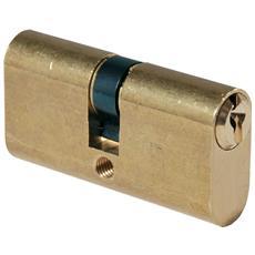 Cilindro ovale mm. 54 27/27 Ottone Lucido