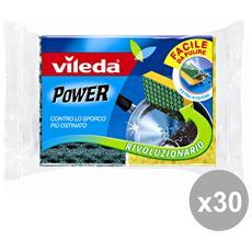 Set 30 Spugna + Fibra Power 2 Pezzi Attrezzi Pulizie