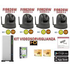 la-kit9826nvr Kit Videosorveglianza Foscam X4 Alta Definizionecon Registratore