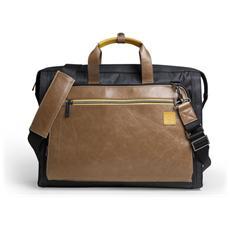 G1576 Valigetta ventiquattrore Nero, Marrone borsa per notebook