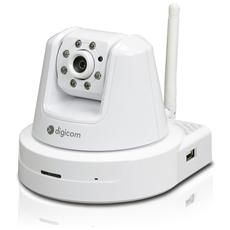 Pan-Tilt IP Camera Wi-Fi 400HD con Porta USB per Hard-Disk Locale