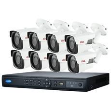 Kit Videosorveglianza Ip 8 Telecamere 2 Megapixel Poe Varifocali Ir 90 Metri, Spazio Disco 2 Tb