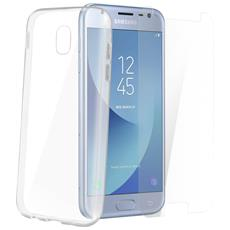 Protezione Completa - Cover Trasparente + Pellicola Vetro Samsung Galaxy J3 2017