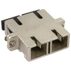 Duplex SC / SC, Multimode, with flange 2 x SC 2 x SC Argento cavo di interfaccia e adattatore