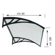 Pensilina in resina trasparente 80 x 120 cm