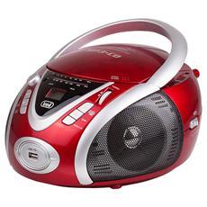 Stereo Portatile Boombox Cd Mp3 Cmp 542 Usb Rosso