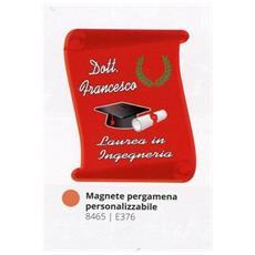 Bomboniere Laurea Personalizzata Pergamena Magnete In Pvc + Confezione Confetti