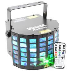 Effetto Di Gioco Di Luce 6x3w Derby Rgbawp Con Laser Verde / Rosso - Dmx - Telecomando