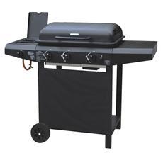 Barbecue A Gas Griglia Smaltata Accensione Piezoelettrica Con 2 Ruote