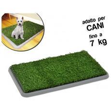 Lettiera 68 X 43 X 5 Cm Erba Sintetica Per Animali Domestici Toilette Potty Patch 3 Strati