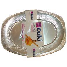 Vassoi 6 Porzioni Alluminio X 3 Pezzi Cuky - Vaschette Per Alimenti