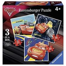 RVB06925 Cars 3 - Puzzle 3 in 1 - 25-36-49 Pezzi
