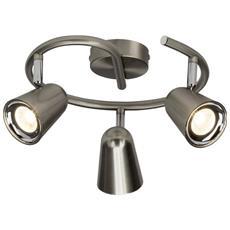 Ag G50633/13nifty Plafoniera Spirale Led A 2luci Metallo 4w Integrated Acciaio