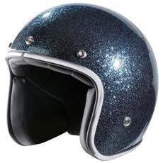 Nox Casco Jet N242, Blu Glitter, Xl