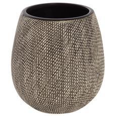 Portaspazzolino in ceramica grigia linea Safari