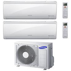 Condizionatore Fisso Dualsplit AJ050/2x12NPW Quantum Maldives Potenza 12000+12000 BTU / H Classe A++ / A Inverter