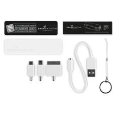 Extra Battery, Bianco, Universale, USB, Micro-USB, USB
