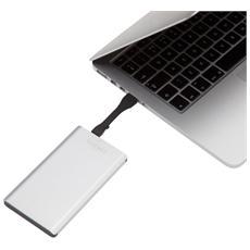 99-071-BLK, Polimeri di litio (LiPo) , USB, Alluminio, Nero, Alluminio, Telefono cellulare, Smartphone, Tablet, Micro-USB A