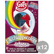 Set 12 Acchiappacolore Intenso X 16 Fogli Detergenti Casa