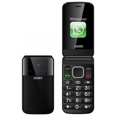 "Facile Flip Senior Phone Dual Sim Display 2.8"" Micro SD Bluetooth con Tasti Grandi + SOS Fotocamera Colore Nero"