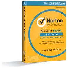 SYMANTEC - Norton Security Deluxe 1 Licenza per 3 Dispositivi...