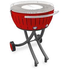 Barbecue Xxl Con Ruote - Rosso