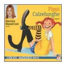Pippi Calzelunghe letto da Marina Massironi. Audiolibro. CD Audio formato MP3