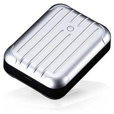 Gum++ alimentatore portatile in alluminio 6000mAh Silver
