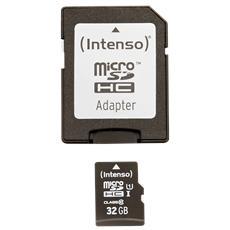 Secure Digital SDHC 32 GB Classe 10 + Adattatore