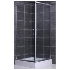 Box doccia 80x100 apertura angolare due lati in cristallo trasparente