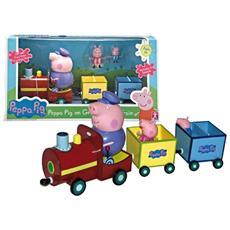Peppa Pig - Il treno di Nonno Pig con 2 Mini Personaggi Inclusi