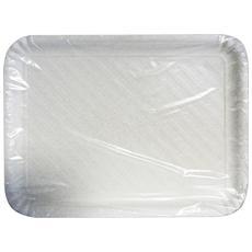 Vassoio Carta Rettan. bianco Biodeg. 33x47 Cm. x 2 Pezzi - Vaschette Per Alimenti