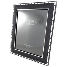 cornici portafoto 'design' cromo nero 20x25 cm - [ i0380]