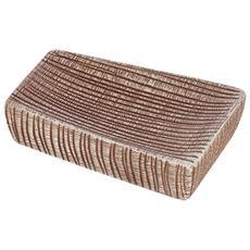 Portasapone in ceramica marrone linea Kenya