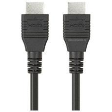 Cavo HDMI ad Alta Velocità con Ethernet Maschio / Maschio da 1 Metro Colore Nero