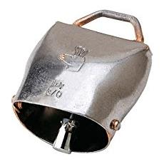 Campana per animali numero 0 in acciaio al carbonio 41xH46 mm