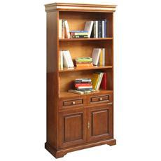 Libreria 2 ante 1 cassetto stile Luigi Filippo -L 82 - H 195 cm - legno MDF
