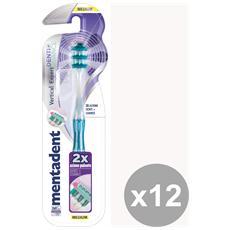 Set 12 Spazzolino Vertical Expert Denti+guance Medio Prodotti Per Il Viso