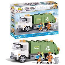 1780 Set Costruzioni Garbage Truck Eco Town 200 Pezzi *02617