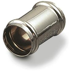 Giunzione Cromata A Tenuta Interna, Giunzione Per Canotti A Tenuta Interna Con Anello O'ring In Ottone Cromato Diametro Mm. 30