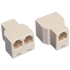 Accoppiatore Sdoppiatore Plug Modulare Rj11 6/4